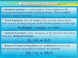 chemical reaction example 29 hydrogen