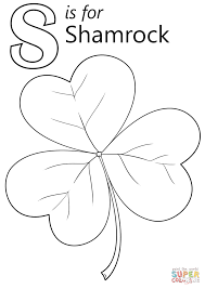 Small Picture Letter S is for Shamrock coloring page Free Printable Coloring Pages