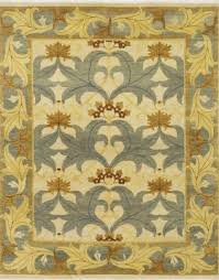 pattern view image showcasing the design of the fintona light blue 20th century william morris rug