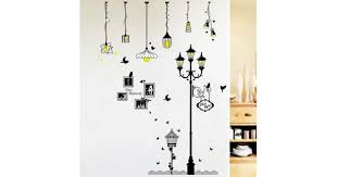 creative cartoon chandelier pvc wall sticker diy removable household decor waterproof wall stickers 1337178 virtrador