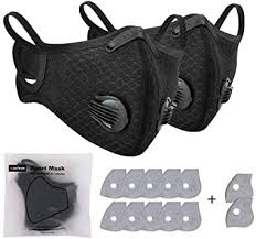 2 Pack Anti-pollution <b>Cycling</b> Face Cover with 12 Pack <b>Activated</b> ...