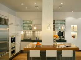 Apartments Wooden Counters Kitchen Island With Modern White Stool
