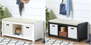 closet 3 cube bench organizer white maid unit bookcase bhg rustic gray 3 cube storage bench white bhg organizer storag
