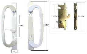 sliding patio door handle with lock sliding glass patio door handle set with mortise lock white