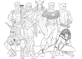 Marvel Coloring Page Coloring Page Marvel Coloring Pages Ideal