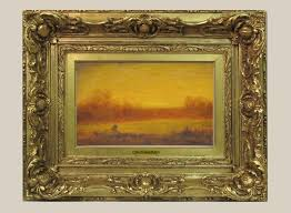 frame for george inness painting after restoration