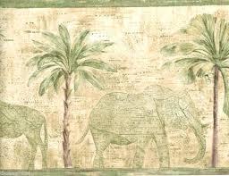 palm tree wall border palm tree elephant safari animals wall paper border home design reddit
