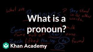 What Is A Pronoun Video Khan Academy