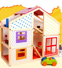 happy family doll housebaby wooden doll housedoll house toy brand baby wooden doll house