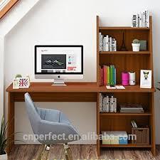 home office writing desks. Computer Desk With Shelf Wooden Writing Study Table Workstation For Home Office Adjustable Bookcase Design Desks