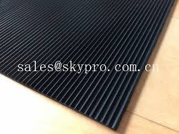 recycled odorless corrugated rubber matting 3mm thick min oil resistance