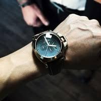 megir mens rose gold analog quartz watch with chronograph