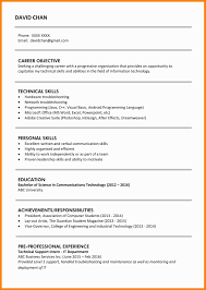 10 Examples Of Resume For Fresh Graduates Cains Cause