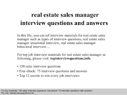 Exquisite Real Estate Executive Jobs Sales Manager Interview