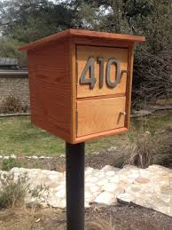 wood mailbox ideas. Image Of: Modern Mailboxes Wood Mailbox Ideas