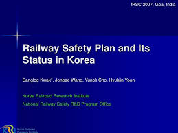 Safety Plan Magnificent Railroad Safety Plan And Its Status In Korea