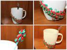 Чайные ложки с декором из полимерной глины