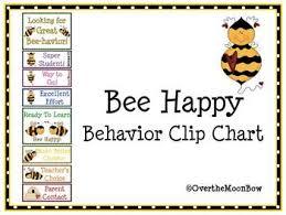 Bee Themed Behavior Clip Chart Worksheets Teaching
