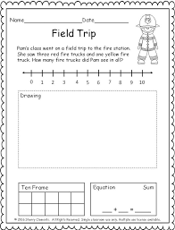 pages addition word problem number line drawing ten frame and equation kindergarten and first grade math may be good for testing