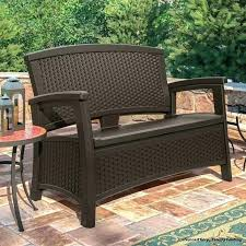 outdoor wicker storage bench elements all weather chest resin wing by christopher knight home