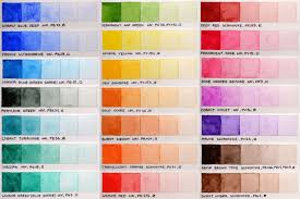 Sakura Poster Color Chart Color Chart Of Winsor Newton Professional And Schmincke