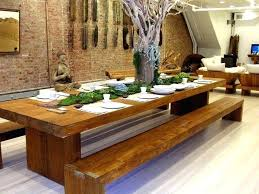wooden dining table designs dining room table with bench ideas about dining table with bench on