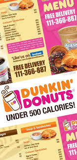 Dunkin Donuts Nutritional Value Chart Fast Food Under 500 Dunkin Donuts Dunkin Donuts Menu