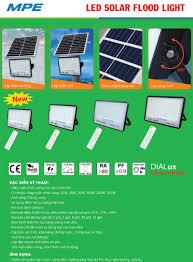 Đèn led pha năng lượng mặt trời 100W MPE