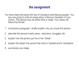 ela what is an essay an essay is an extended piece of writing in  11 the assignment