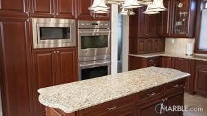 Santa Cecilia Light Granite Kitchen Cecilia Granite Kitchen With Cherry Wood Cabinets