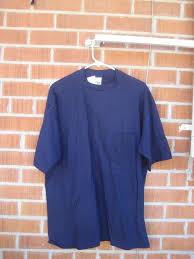 Vintage Plain Blue Color 1990s Xl Cotton Gap Pocket T Shirt