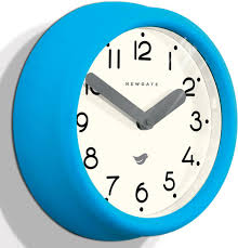 newgate pantry wall clock aqua blue image 2