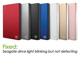 1tb Seagate External Hard Drive Detected Light Blinking Fixed Seagate External Hard Disk Light Blinking But Not