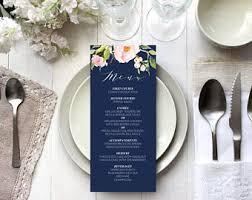 Vistaprint Wedding Seating Chart Printable Navy Wedding Menu Template Editable Burgundy Etsy