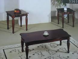 wood coffee table set. 2 Piece Coffee Table Set End Luxury Cherry Wood Alvarado