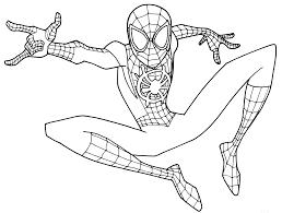Tranh tô màu người nhện cho bé - Edu Learn Tip