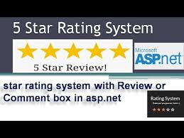 How to create 5 Star Rating System with Review/Comment box in asp ...