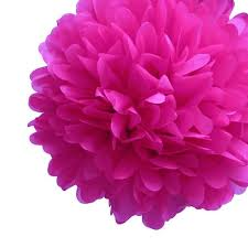 Tissue Paper Pom Poms Flower Balls Ez Fluff 12 Inch Fuchsia Tissue Paper Pom Poms Flowers Balls Decorations 4 Pack Fluffy Wall Backdrop Decorations On Sale Now Pom Pom Flowers
