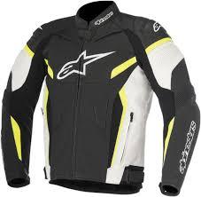 alpinestars gp plus r v2 leather road track jacket black wht yllw