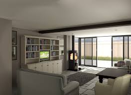 Home Interiors:Beautiful White Living Room Decoration With Glass Window  Design Ideas Beautiful White Living