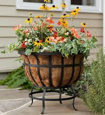 Outdoor plant stands.