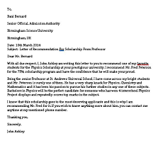 6 Scholarship Recommendation Letter Sample Pdf Word Mous Syusa