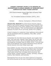 Business Press Release Template Draft Press Release Template