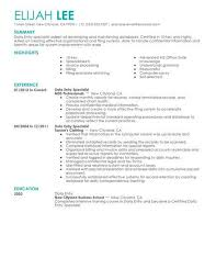 Data Entry Resume Cool Best Data Entry Resume Example LiveCareer