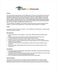 Design Of A Disaster Recovery System Small Business Plan Samples ...
