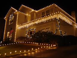 christmas lighting decoration. House With Electric Lights. Create Your Magical Christmas Lighting Decoration G