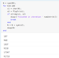 Integers Examples Handling Large Integers To Solve The 196 Problem Matlab Simulink
