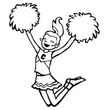 Cheerleader Coloring Pages Printable Hello Kitty Cheerleader