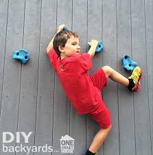 diy backyards for kids make a climbing wall
