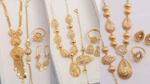 Arabic Gold Jewellery Designs Arabian Combo Sets Gold Necklaces Designs Arabic Gold Necklaces Sets Designs